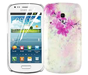 JAMMYLIZARD Custodia rigida per Samsung Galaxy S3 Mini Collezione BOUQUET, pellicola proteggi schermo inclusa