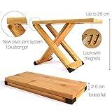 Fox & Fern Gitarre Fußbank - Professionelle Bambus Fuß Hocker - Magnete to Fix Position - verstellbar von 13 cm bis 25 cm