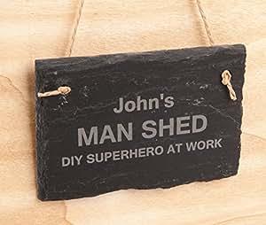 hoolaroo gravure personnalis e suspendre en ardoise noir cadeau f te des p res pancarte pour. Black Bedroom Furniture Sets. Home Design Ideas