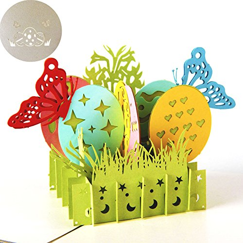 Le yi Wang You 3D Pop-Up-Ei Thanksgiving Geburtstag Weihnachten Valentinstag Grußkarte Geschenk multi