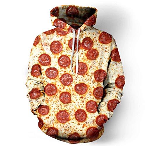 Martinad Unisex Hoodies Ramen Drucken Essen Pizza Designs Sweatshirt 3D Top Lustig Pärchenhoodie Elegante Loose Langarm Kapuzenpullover Herren (Color : Style- 30, Size : S) Top Essen