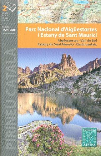 Aigüestortes i Estany de Sant Maurici Parc national 1:25.000 jeu de 2 cartes de randonnée et le cyclisme topographiques (Espagne, Catalogne) ALPINA