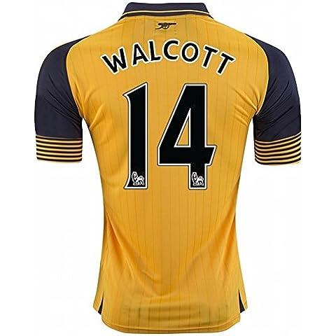 20162017Arsenal 14Theo Walcott lontano calcio maglia in giallo per nuova stagione, Uomo, Yellow, M