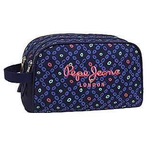 Pepe Jeans Topos Print Neceser de Viaje, 4.99 litros, Color Azul