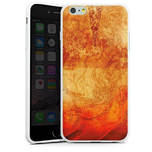 Apple iPhone X Silikon Hülle Case Schutzhülle Feuer Muster Orange Silikon Case weiß