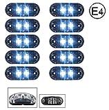 10 x LED 24V WEISS BEGRENZUNGSLEUCHTE POSITIONSLEUCHTE SEITENMARKIERUNGSLEUCHTE LKW E-Prüf E9