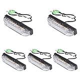 5 unidades de 6 luces LED blancas para navegación, tira de luz marina, barco, yate, navegación, barra de luz LED