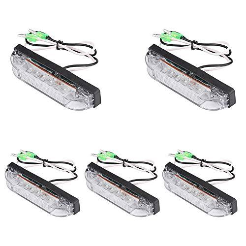 Keenso 5 Stücke 6 LED Weiß Navigation Signal Lichtleiste Marine Boot Yacht Navigation Led Lichtleiste Marine Utility Strip Glühbirne -