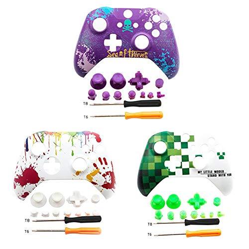 nabdeckung Front Shell Für Xbox One X S Slim Controller - ABS Wasserpaste Prozess Personalisiert Frontblende Abdeckung Xbox One X S Front Shell Mit Tasten ()