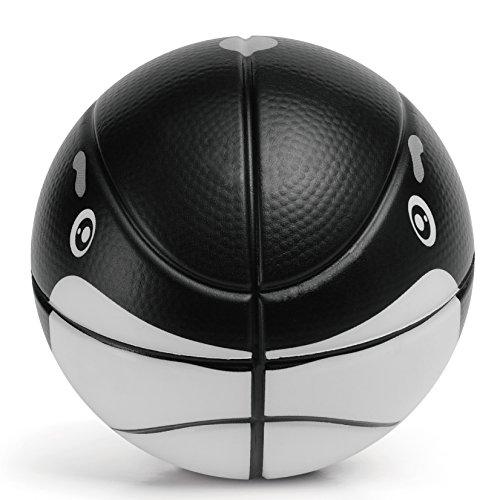 CHASTEP Soft Sicher Kinder Trainingball(Schaumstoff ,Keine aufblasen) Tiere Ball 15cm Mini Schaumstoff Ball für Kinder Leicht 130G Spiele Ball(Wal)