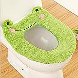 Timorr WC-Sitz Wärmer Bezug Cute Cartoon Animal Closestool Badezimmer Waschbar Kissen Grüner Frosch