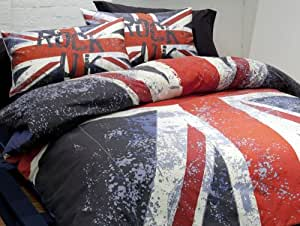 Catherine lansfield kids set biancheria da letto blu blau singolo casa e cucina - Biancheria da letto amazon ...