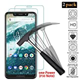 """ANEWSIR 【2 Pack】 Motorola One Power (P30 Note) Screen Protector(6.2""""), Moto One Power Tempered Glass Screen Protector with [Crystal Clarity] [Scratch-Resistant] for Motorola One Power (P30 Note)."""