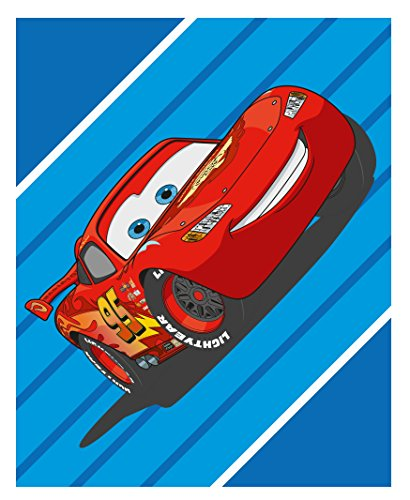 Plaid Fleecedecke Cars Flash McQueen 120 x 150 cm fleece Blanket Dekoidee Disney