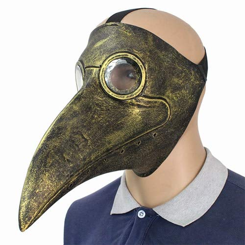 MASKUOY Halloween-Maske Ärzte Maske Latex Klar Harz Linsen Schnabel Gesichtsmasken Für Halloween Steampunk Kostüm Party Masken