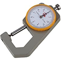 Yibuy - Medidor mecánico de Espesor Hecho a Mano de Cuero, Herramienta de Manualidades de 0 – 20 mm