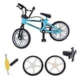 MagiDeal Mini Finger Fahrrad Bicycle Modell aus Legierung & Kunststoff mit Ersatzteil Kreatives Spielzeug Geschenk für Kinder und Junge - Blau
