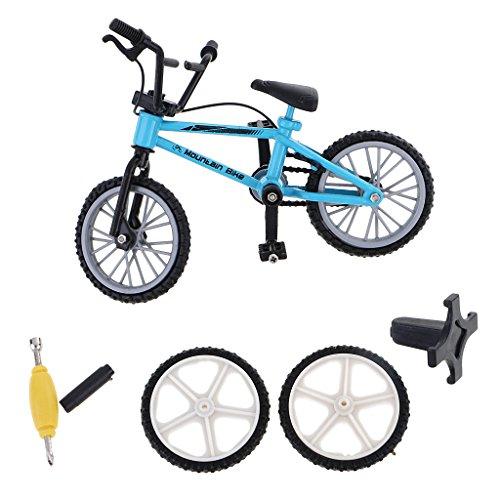MagiDeal-Mini-Bicicleta-de-Montaa-con-Neumticos-de-Repuesto-Dedo-Sistema-de-Juguete-de-Bici-de-Aleacin-Regalo-Coleccin-Nios