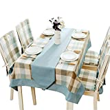Telihome Cotton Linen Tablecloth Garden Waterproof Tablecloth Rectangular Household,Macro-Ge,140 * 180Cm