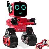 HBUDS Roboter-Spielzeug und Geschenk - Fernbedienung, Touch- und Soundsteuerung, interaktiver Smart-Roboter mit Münzbank, Geldmanagement RC Roboter Lernspielzeug Cady Wile rot