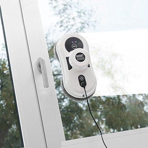 Rumbot Fernster-Reinigungsroboter | Die intelligente Reinigungs-Lösung für Glasflächen und Fliesen | Dopppelrotationssystem mit Mikrofasertüchern, welche für blitzblanke Oberflächen sorgen | Einstellbare Bewegungen: horizontal, vertikal, zick-zack -