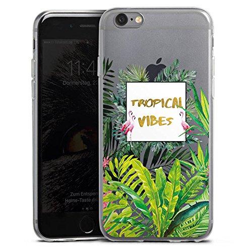 Apple iPhone 8 Slim Case Silikon Hülle Schutzhülle Muster ohne Hintergrund Flamingo Dschungel Silikon Slim Case transparent