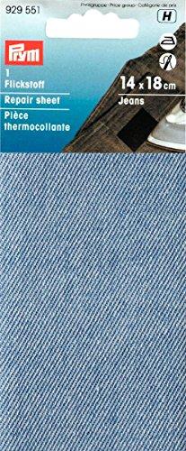 Prym Toppa Per Rammendo, Jeans, Cotone, Blu Chiaro, 14X18Cm
