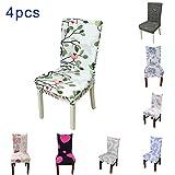 4 x Housse de Chaise Universelle Extensible pour Décoration de Chaise Moderne (N)