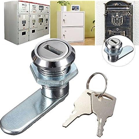 Yongse Blocco cassetto della scrivania Cam Lock con 2 chiavi per Arcade Armadio Mailbox File Cabinet