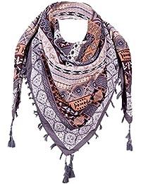 bbde55913115 Foulards Femme, Kolylong Fashion Tassel Lace Sheer Burntout Imprimé Floral  Triangle Mantilla ÉCharpe ChâLe Modèle
