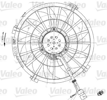 VALEO 698542 Lüfter, Motorkühlung