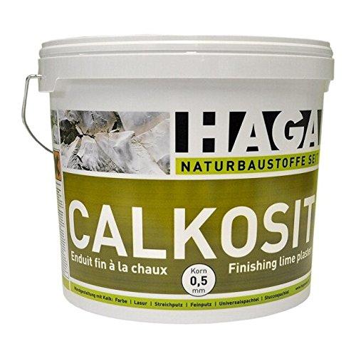 HAGA Calkosit Kalkfeinputz auf Sumpfkalkbasis für Innen & Außen, weiss natur, Korn 0,5mm, 25 kg