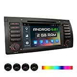 XOMAX XM-39BA Autoradio passend für BMW E39 5er M5, E53 X5, mit Android 6.0.1, 2GB RAM, Support: WiFi, W-LAN, 3G, 4G, OBD2, DAB+ / GPS, Bluetooth, 7'' Touchscreen, DVD, USB, Micro SD, 1 DIN