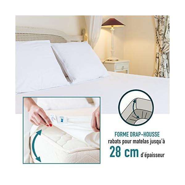 Dreamzie - Coprimaterasso Matrimoniale 160 x 190/200 Impermeabile - Tessuto 100% Cotone Oeko Tex - Angoli Estici Ampi… 5 spesavip