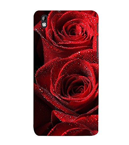 PrintVisa Roses with Water Droplet 3D Hard Polycarbonate Designer Back Case Cover for HTC Desire 816 :: HTC Desire 816 Dual Sim :: HTC Desire 816G Dual Sim