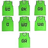 Kosma Pack of 7 Netball Bibs -All Positions Mesh Bibs   Sports Training Bibs