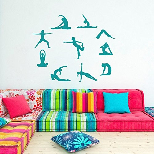 fitness-yoga-life-wall-decal-yoga-spelled-in-silhouette-gym-vinyl-women-wall-art-x-largeteal