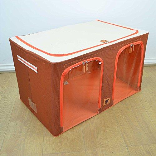 120l plegable caja de almacenaje organizador de sala y - Cajas tela almacenaje ...