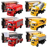 FastDirect Early Education Car Toy Pull Back Vehicles Truck Mini Car Toy for Kids Toddlers Boys