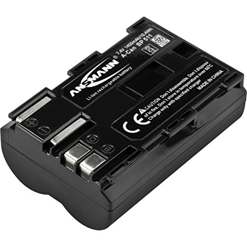 ANSMANN Li-Ion Akku A-Can BP 511 7 4V/Typ 1400mAh/Leistungsstarke Akkubatterie für Foto Digitalkameras - der perfekte Ersatzakku für Canon Digicam uvm.
