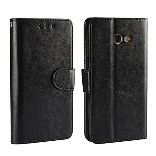 Samsung Galaxy A5 (2017) A520 Protector PU Leather Wallet Case Flip Kickstand Function Ultra Folio Flip Slim Card Holder Case Cover Accessories for Samsung Galaxy A5 (2017) A520 (Black) (Case Wallet Galaxy Light Samsung)