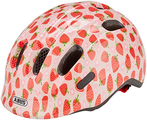 Abus Unisex - Babys Smiley 2.1 Fahrradhelm, rosa Strawberry, S