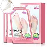 MINPE Fuß Peeling Maske, 3 Paar Premium Fußmaske zur Entfernung von Hornhaut Peeling Socken, 7 Tage für Babyfüße