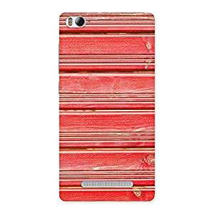 Special Red Woodlock Print Back Case Cover for Xiaomi Mi4i