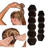 BeautyLifeⓇ 1 Stück Haarband Französisch Hair Styling Former Magic Schwamm Donut Ring Brautschmuck Haarknoten Frisurenhilfe Haarzopf - Groß