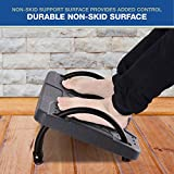 Adjustable Height Ergonomic Footrest for Office, Under Desk Foot Stool, Textured Surface Massages The Soles of Your feet for Stress Reduction