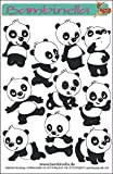 Bambinella® Stickerparade - 10 Sticker - Motiv: Panda - Made in eigener Werkstatt in Germany