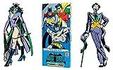 Batman Greeting Card Boxed Set - Die Cut Silhouette Cards of Batman, Robin, Batgirl, Catwoman, The Riddler, The Penguin, The Joker