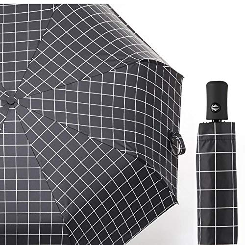 0c0103f0b34e AJIAO Regenschirm Fashion Automatic Umbrella Women Folding Male Anti-Uv  Rain Gift Parasol,Black