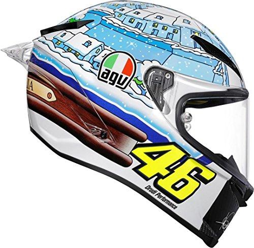 2018# vale Valentino Rossi VR46# Agv pista gp-r # Motogp Tavullia Snow Globe Sepang Winter test casco integrale Racing # # mostro Yamaha # # # Daineseofficial giallo # Italia # Italia